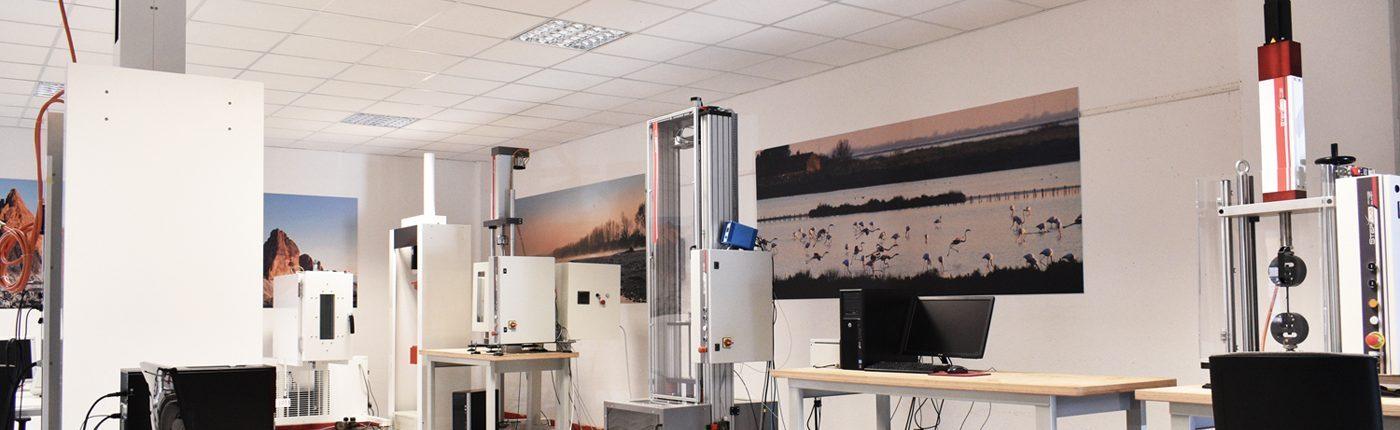 Laboratory with Step Lab testing machines