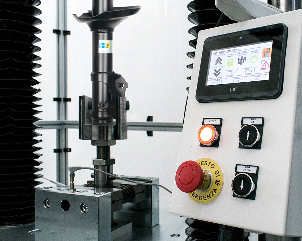 Damper test system with operator panel